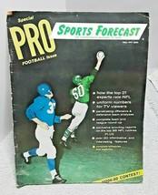 1959 Sports Forecast Pro Football Issue Chuck Bednarik Philadelphia Eagles  - $19.75