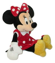 "Disney Minnie Mouse Plush Polka Dot Dress Heeled Shoes 15"" Animal Stuffed  - $9.89"