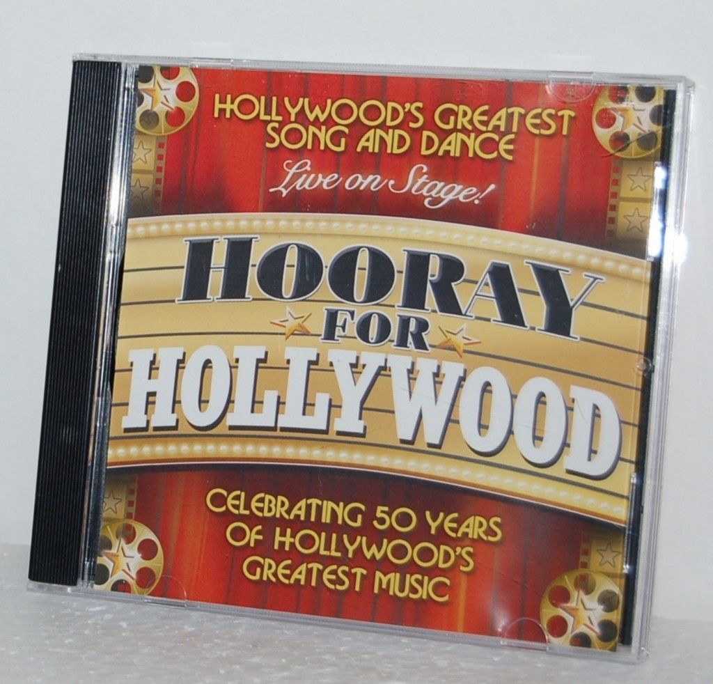 Spirit Productions Hooray For Hollywood CD Greatest Song Dance Music 50 Years