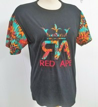 Red Ape Colorful Design on Black Large Cotton T-Shirt L (12) Women's or ... - $20.57