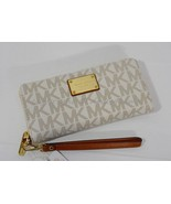 NWT Michael Kors Signature Jet Set Travel Continental Wallet/Wristlet in... - $139.00