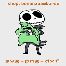 Jack and Oogie Boogie Nightmare Before Christmas, Svg Png Dxf - $1.99