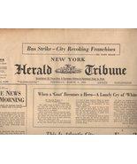 New York Herald Tribune Newspaper Thursday, March 8, 1962 - $4.90