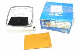 NIB GENERAL ELECTRIC MODEL 250 PANEL METER DIAL: 0-200 A-C AMPERES