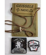 2020  Shot Show Geissele Badge Holder Lanyard Tan Nylon Pocket with Patches - $17.81