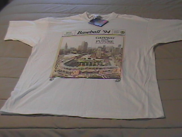 Shirt t shirt ss fruit of the loom 1994 front page opening of gateway xl white new with tags 02