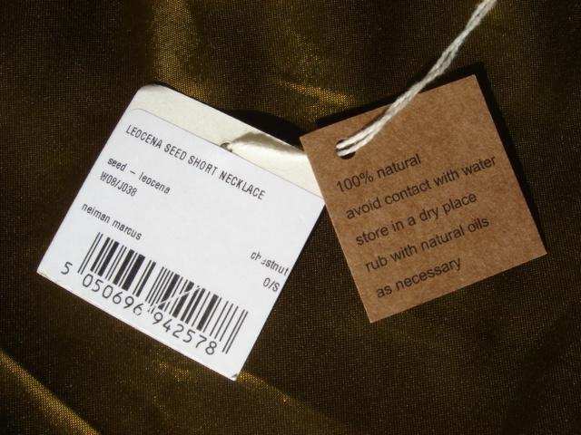 eskandar 100% Natural Leocena Seed Necklace $700
