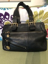 Marc Jacobs black leather Large Shoulder Bag EUC made in Italy - ₨10,921.54 INR