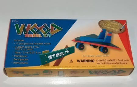 Wood Toy Model Kit Stealth Airplane