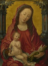 Netherlandish - The Virgin and Child - 24x32 inch Canvas Wall Art Home Decor - $51.99