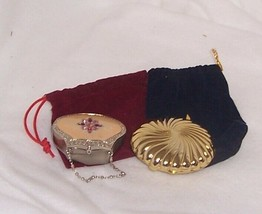 Partylite Travel Tealight Holders Lot of 2 Gold Shell and Mini-Purse Exq... - $14.80