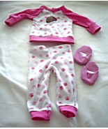 """Pink Puppy Paw Print Pajamas Slippers Fits 18"""" Doll American Girl Our Ge... - $9.99"""