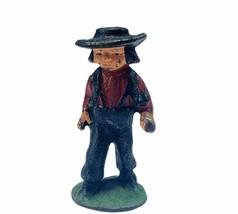 Cast Iron figure vtg toy Amish Mennonite church Jakob Ammann gift ww2 wwii boy 3 - $19.19