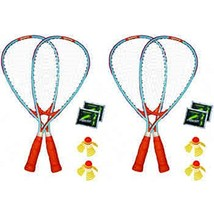 Speedminton New 4-Player Racket Fun Outdoor Set, Wind/Water Resistant+Th... - $59.65
