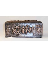 Vintage Hallmarked Plated Repousse Copper Trinket Box Hinged Lid & Wood Interior - $67.00