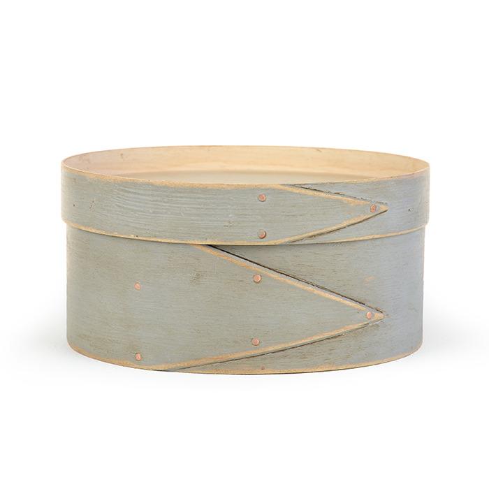 "8"" Round Concrete Gray Shaker Box cross stitch needlepoint Lone Elm Lane"