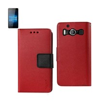 Reiko Nokia Lumia 950 3-IN-1 Wallet Case In Red - $12.99