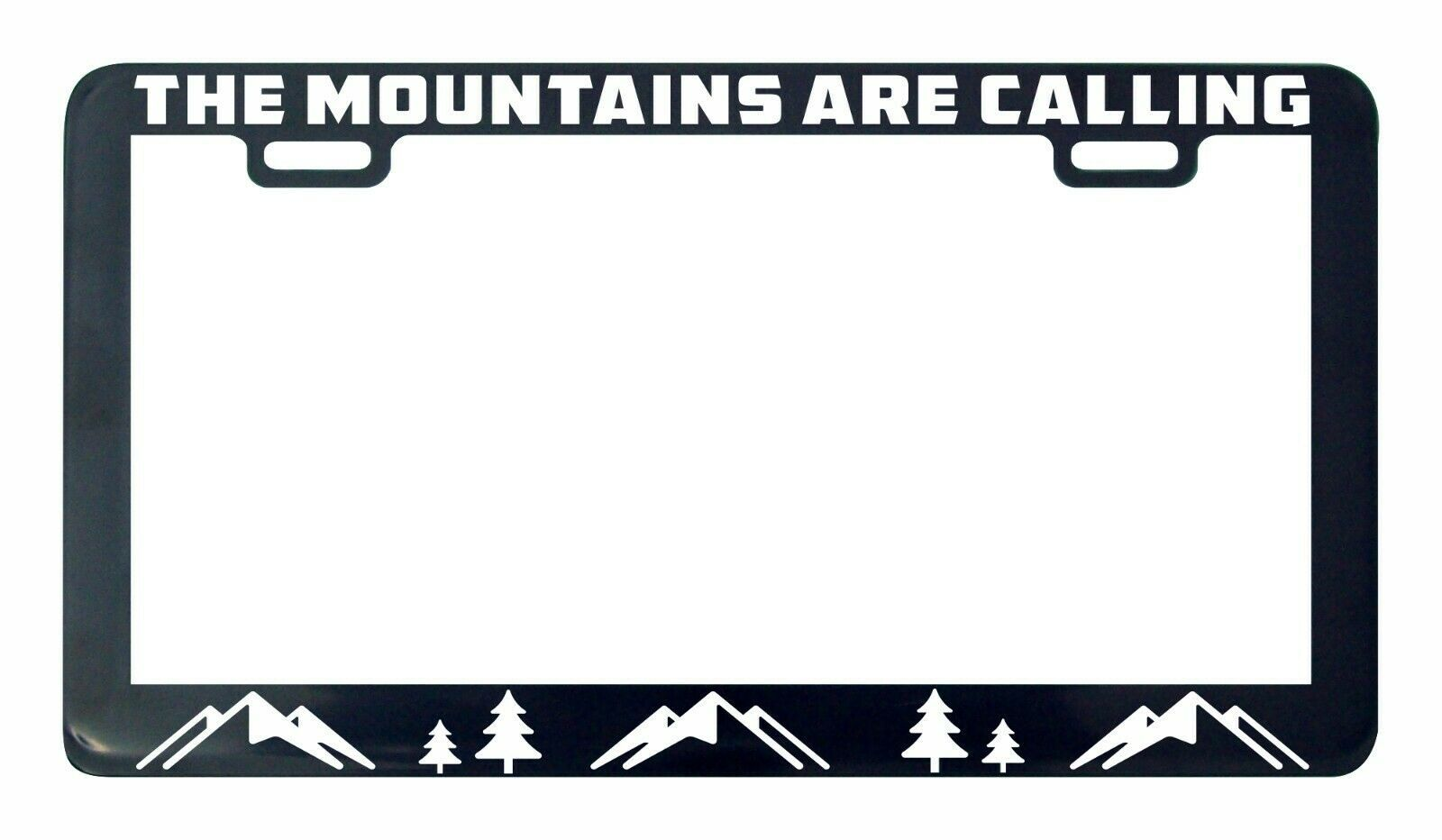 Primary image for The mountains are calling Adventure Awaits license plate frame holder tag