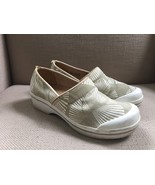 DANSKO VOLLY VEGAN PALM PRINT CHINO CANVAS UPPERS CLOGS SIZE 39 (US 8-8.5) - $28.04