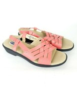 DR. SCHOLL'S Sandals Comfort Shoes Coral Leather Open Toe Woven Womens s... - $23.75