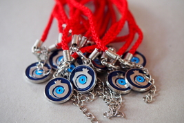 Kabbalah 10 pcs Lot Red String Pomegranate Charm Evil Eye Bracelet Judaica image 5