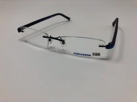 Converse Eyeglasses Q022 Black Blue Rimless 52-18-140 Demo Lens CB14 - $65.32
