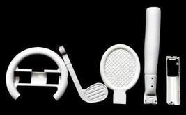 NEW 6-in-1 Kit for Nintendo Wii Sports Pack Wheel, Baseball, Golf Club, ... - $18.56