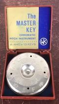 Vtg iw/Box The Master Key Chromatic Pitch Instrument Pipe A-440 13 key/U... - $23.38