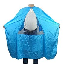 Hair Beauty Salon Client Gown Waterproof Coloring Dye Cape Smock with Triangle T