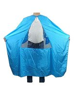 Hair Beauty Salon Client Gown Waterproof Coloring Dye Cape Smock with Tr... - $17.06