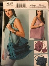 Vogue V9120 KATHERYN BRENNE DESIGNER ORIGINAL BAG TOTE SEWING PATTERN UNCUT - $26.43
