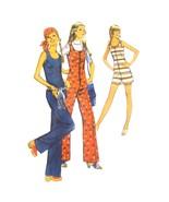 1970s Vintage Simplicity Sewing Pattern 9273 Junior Petite Jumpsuit Romper 9JP - $7.95
