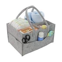 Felt Storage Basket Baby Diaper Organizer Bag Foldable Toys Cosmetic Holder - $18.38