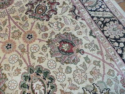 3 X 5 Hand Knotted Pak Persian Fine Kashan Gold/black Oriental Rug
