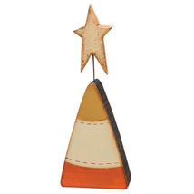 Country CANDY CORN With STAR SITTER Desk Autumn Thanksgiving Farmhouse S... - $18.99