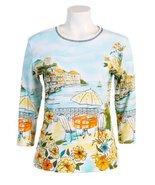 "Jess N Jane ""Seaport"" Dressy Ladies Rhinestone Cotton T Shirt White-small - $37.99"
