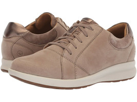 Clarks UnStructured Leather Lace-Up Sneakers - Un.Adorn Lace Pebble 11 M - $79.19