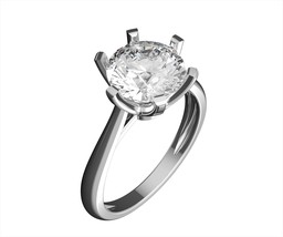 Round Cut VVS/G 2ct Ring 14K White Gold Engagement Wedding Promise Solid - $399.64