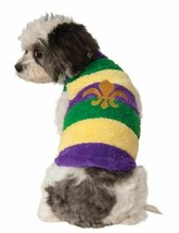 Mardi Gras Sweater Fleur De Lis Small Dog Rubies Pet Shop Costume - $15.24