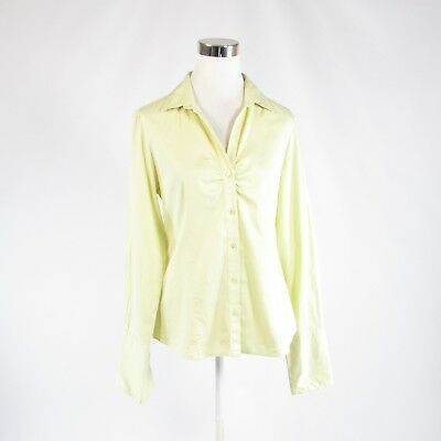 Primary image for Light green cotton blend BANANA REPUBLIC long sleeve button down blouse M