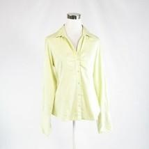 Light green cotton blend BANANA REPUBLIC long sleeve button down blouse M - $24.99