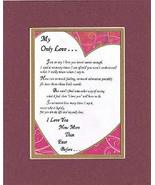 GoodOldSaying - Poem for Marriage & Love - My Only Love Poem on 11 x 14 ... - $16.78