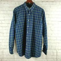 Polo Ralph Lauren Men's Shirt Size XL Button Down Long Sleeve Navy, Green  - $24.74