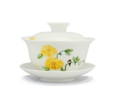 Top Grade Chinese Ceramic Gongfu Tea Set Chrysanthemum/160ML - $32.60