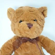 """Goffa Waffle Fur Brown Teddy Bear Brown Bow Sitting 10"""" Stuffed Plush Animal  - $13.99"""