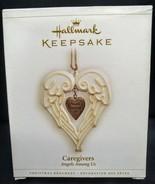 2006 Hallmark Keepsake Ornament Caregivers Angels Among Us Heart Porcela... - $9.89