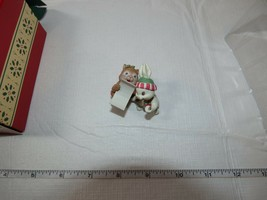 Carlton Cards Heirloom Collection Christmas Ornament Holiday Harmony Chipmunk Rb image 2