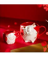 Limited Edition 2021 Lunar New Year Ox Zodiac Starbucks Red Mug Best CNY Gift - £33.25 GBP