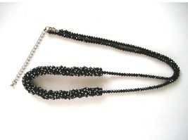 "Women's 30"" Long Shiny Black Beaded Necklace Fashion Jewelry - $6.60"
