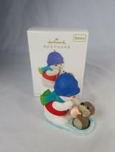 Hallmark Keepsake Ornament Snow Buddies 2012 Snowman Otter 15th #15 Series - $18.99